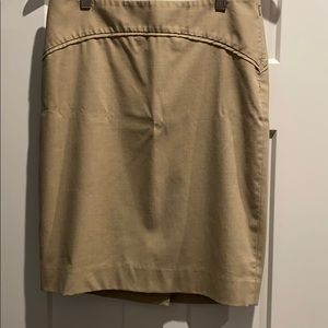 Tan pencil skirt size 4